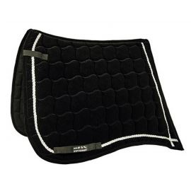TAPIS DE SELLE ANTIK VELOURS DRESSAGE NOIR